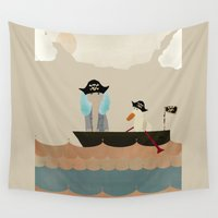 pirates Wall Tapestries featuring we are pirates by bri.buckley