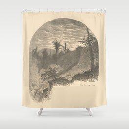 Vintage Adirondacks: Lower Falls, Ticonderoga Shower Curtain