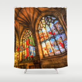 Evening Sun Cathedral Shower Curtain