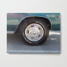 Muscle Car Wheel Metal Print
