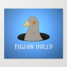 Pigeon Holed Canvas Print