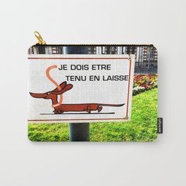 Rennes, France Dachshund Leash Sign in Park Carry-All Pouch