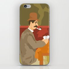 Card players by Cezanne iPhone & iPod Skin