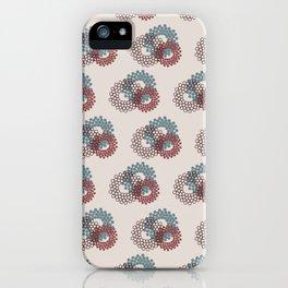 Flower Power surface pattern (blue-purple) iPhone Case