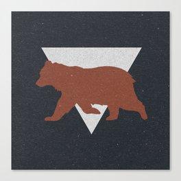 Bear & Bravery Canvas Print