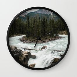 Sunwapta Falls, Jasper National Park/Icefields Parkway Canada Wall Clock