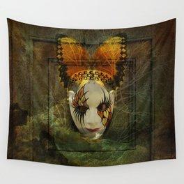 Surrealistic Venetian Mask Wall Tapestry