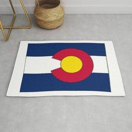 Colorado Map with Coloradan Flag Rug