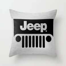 Jeep Steel Chrome Throw Pillow