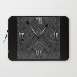 Watch. Black and white pattern . Laptop Sleeve