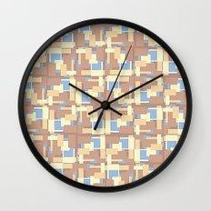 Blue Earth Patch Pattern Wall Clock