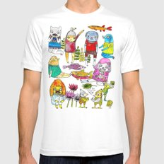 Critter collection MEDIUM White Mens Fitted Tee