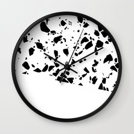 Terrazzo Texture Black and White #8 Wall Clock
