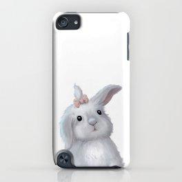 White Rabbit Girl isolated iPhone Case