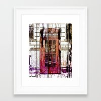 telephone Framed Art Prints featuring Telephone by Del Vecchio Art by Aureo Del Vecchio
