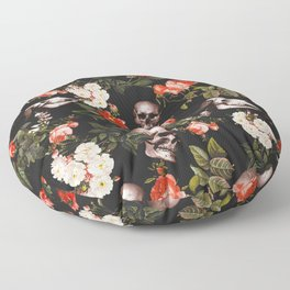Floral and Skull Pattern Floor Pillow