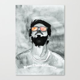 Rose-Tinted Glasses B&W Canvas Print