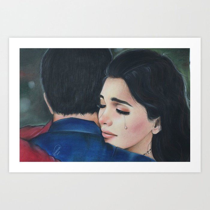 sad love story Art Print by haneenartist
