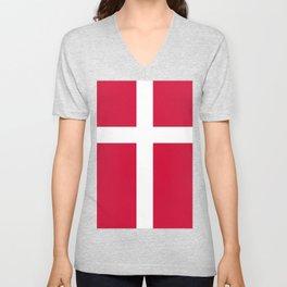Danish Flag Unisex V-Neck