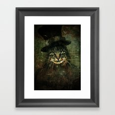 The other cat in the hat Framed Art Print