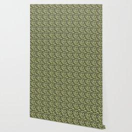 Military Camouflage Pattern - Green White Black Wallpaper