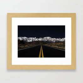 Mountain Drives and Night Skies Framed Art Print