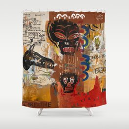 Kaos Red Shower Curtain