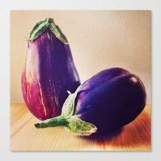 Garden Eggplants Canvas Print