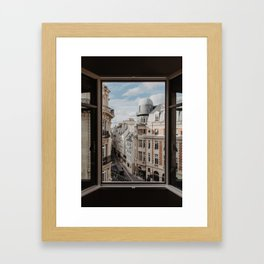 Paris France Street and Architecture Framed Art Print