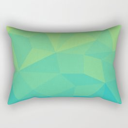 Abstract Geometric Gradient Pattern between Soft Green and Strong Cyan Rectangular Pillow