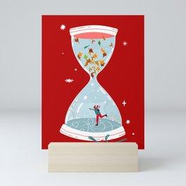 Christmas is coming - red  Mini Art Print