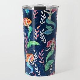 Merry Mermaids in Watercolor Travel Mug