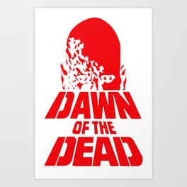 Dawn Of The Dead Horror Zombie Cult T-shirt Art Print