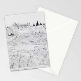 James Tissot - Jerusalem from the South with Sion and the Mosques of El-Aksa and Omar at Left Stationery Cards