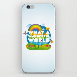 What a Wonderful World iPhone Skin
