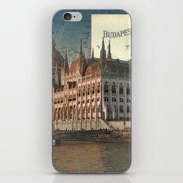 Budapest Travel Map iPhone Skin