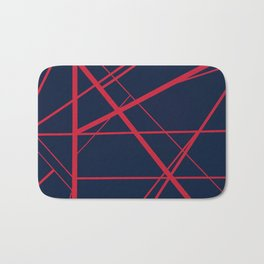 Crossroads - Navy and Red Bath Mat