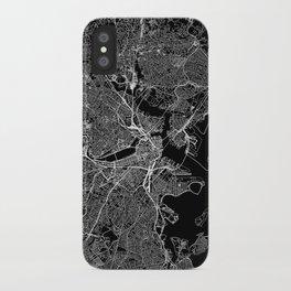 Boston Black Map iPhone Case