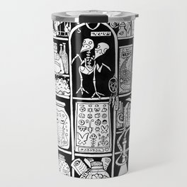 Cabinet of Curiosities (BW) Travel Mug