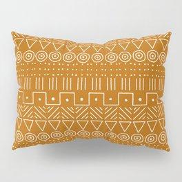 Mudcloth Style 1 in Orange Pillow Sham
