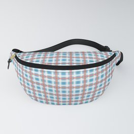 Plaid, delicate blue Fanny Pack