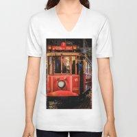 istanbul V-neck T-shirts featuring Istanbul by Seza Kaymak