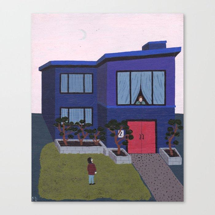 Blue House n°2 Canvas Print