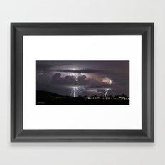 Down Range Signals Framed Art Print