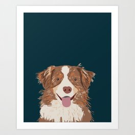Hollis - Australian Shepherd gifts for dog owners pet lovers dog people gifts for dog person Art Print