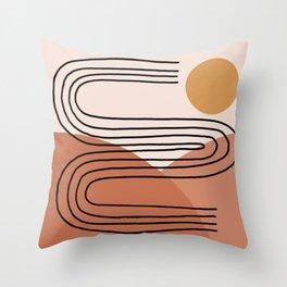 Line Landscape Throw Pillow
