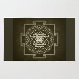 Sri Yantra XI monochrome Rug