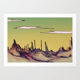 Rock Desert Art Print