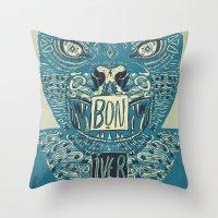 bon iver Throw Pillows featuring Bon Iver by BernardoMajer