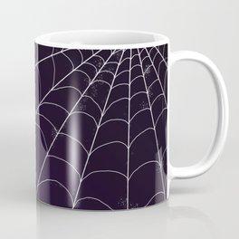 Spiderweb on Violet Night Coffee Mug